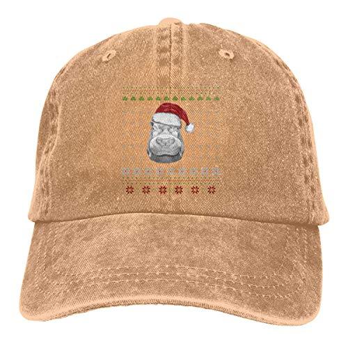 Hoswee Baseballmütze Hüte Kappe Hippo Ugly Christmas Unisex Truck Baseball Cap Adjustable Hat Sandwich Peaked Caps Sun Hat