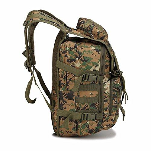 Doppel's Schulter wasserdichte Outdoor Wanderrucksack Männer Pfeile Fisch bag camouflage Tasche 45 * 31 * 18 cm, drei sand Camouflage Armee Grün
