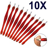 chinkyboo10 X Cuticle Pusher Trimmer Remover with Tail Pedicure Manicure Nail Art Tool
