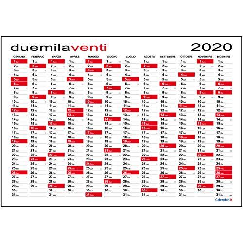Calendario 2020 da muro planner MAXI 118x84 cm planning annuale per ufficio - SPEDITO ARROTOLATO SENZA PIEGHE