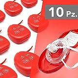 AIESI® Pocket Mask maschera per respirazione bocca a bocca CPR Mask-Resuscitator (10 pezzi)