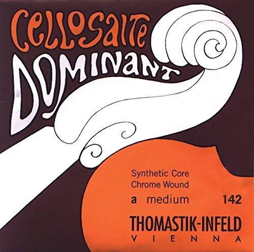 Thomastik Einzelsaite für Cello 4/4 Dominant - G-Saite Nylonkern, Chrom umsponnen, weich