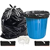 Refresh Biodegradable Plastic 120 L Tie String Garbage Bags (XL, Black) -30 Pieces, Pack of 2