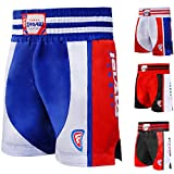 Farabi Boxing Muay Thai , MMA , martial arts fitness kickboxing gym shorts (Blue/Red, XS)