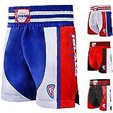 Farabi Boxing Muay Thai , MMA , martial arts fitness kickboxing gym shorts (Blue/Red, XS)
