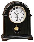 Klassische Tischuhr Kaminuhr mit Pendel Uhr Westminster Stundenschlag Nussbaum (nussbaum, 24 x 30,5 x 9 cm)