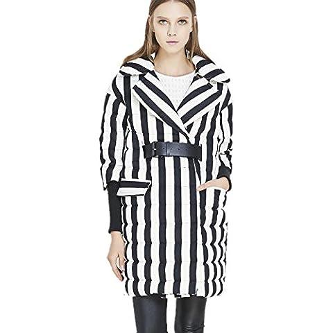ZZHH por la chaqueta Banda de mujeres chaqueta con cinturón de . m