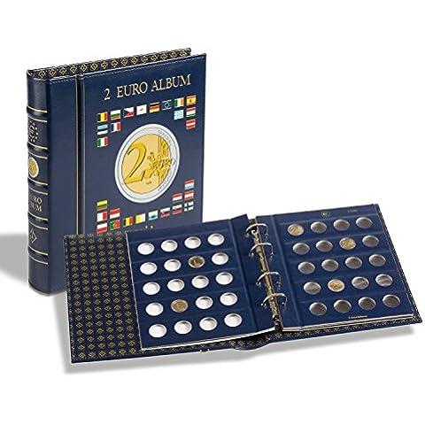 VISTA Álbum para monedas de 2euros (4 hojas neutras) con cajetín, azul