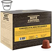 Note d'Espresso Chamomile Honey and Orange Capsules 6g x 100 Capsules Exclusively Compatible with Nespresso* machines
