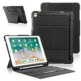iPad 2018 iPad 2017 Funda de Teclado con Portalápices, Teclado Inalámbrico Bluetooth con Cubierta...