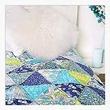 Floral bleu Quilt kit de couture–91,4x 106,7cm Complété