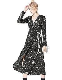 FIND Robe Portefeuille Kimono Imprimé Floral Femme