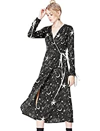 FIND Robe Midi Portefeuille Femme