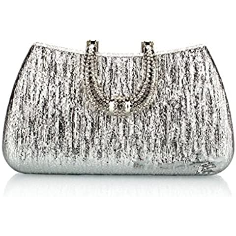 YS Elegant Graceful Color Bright Beautiful Party Bag Handbag With Gold Chain For Ladies