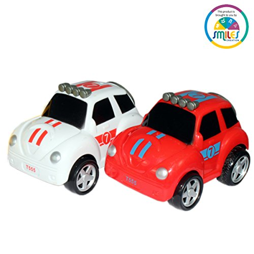 Smiles Creation Push and Go Powerful Friction Car (Pack of Two)