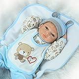 HOOMAI 22inch 55cm muñecas Reborn Bebe Niños Silicona Vinilo Reales Baby Doll Boy Magnetismo Juguetes Chicos Ojos Abiertos