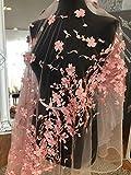 kn31Pfirsich Pink Lace 3D Blumen Brautschmuck/Hochzeit