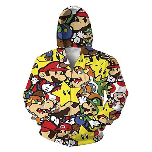 tshirt Unisex Pullover Kapuzenjacke Kleidung Mantel Reißverschluss Mario S ()