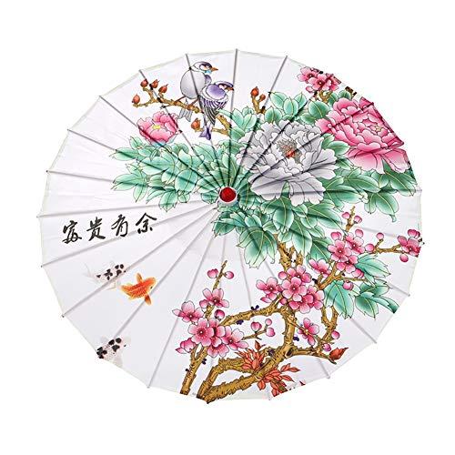 Qlans chinesischer Regenschirm-Sonnenschirm-Öl-Papier-Regenschirm-handgemachter Sonnenschirm für Hochzeitstanz-Party