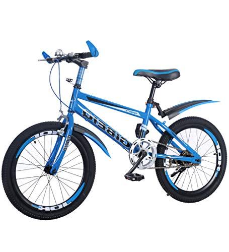 """SJSF Y Kinder Mountainbikes Blue, 18/20/22\""""Zoll Stahlrahmen, V-Brakes mit 1-Gang-Vorder- und Hinterradbremse, 1,95\"""" breites MTB-Profil,20\"""""""