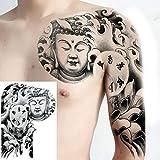 2 Pezzi Tatuaggi temporanei per Uomo Spalla Tatuaggi Petto Petto Autoadesivo del Tatuaggio BJ05 35cmx25cm