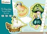 Avenue Mandarine 42433MD - Puzzle 3 Stück groß Piraten