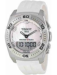 f8553ecc0a8 Tissot Racing Touch T0025201711100 43 Stainless Steel Case White Rubber  Men s Quartz Watch