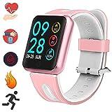 Bluetooth Smartwatch, Fitness Uhr Intelligente Armbanduhr Fitness Tracker Smart Watch Sport Uhr mit Kamera Schrittzähler Schlaftracker Romte Capture Kompatibel mit Android Smartphone (P68...