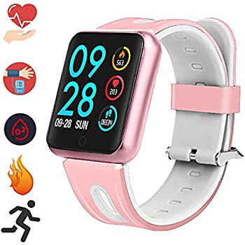 Montre Connectée Bracelet Smartwatch - Fitness Tracker dActivité Cardiofréquencemètre IP67 Etanche Cardio Podomètre Sport Smart Watch Métal Sangle pour ...