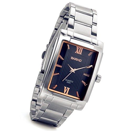 lancardo Romantisches quadratisch, Rose-Gold Tone Paar Uhren für Männer