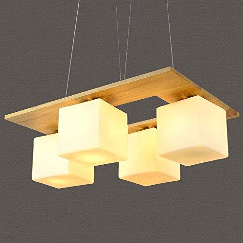 SED Moderne minimalistische Eiche chinesischen Platz 4 - Kopf Holzkunst Kronleuchter Wohnzimmer Esszimmer Kronleuchter