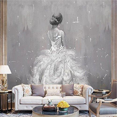isierte Mode Hochzeit Kostüme abstrakte Kunst Ölgemälde 3D benutzerdefinierte Wandbilder für Hochzeit Shop Hintergrund Wand ()