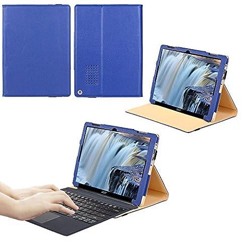Acer Aspire Switch Alpha 12 SA5-271 Folio Protective Case - VOVIPO Portfolio Premium PU Leather Stand Cover For Compatible with Acer Aspire Switch Alpha 12 SA5-271 12 inch QHD IPS Touchscreen Detachable 2-in-1 Laptop