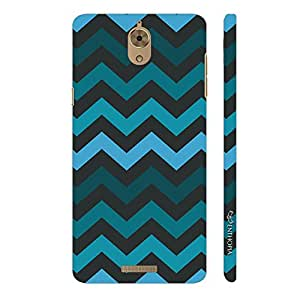 Enthopia Designer Hardshell Case Chevron Blues Back Cover for Coolpad Mega 2.5