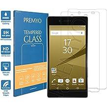 [2 Piezas] PREMYO cristal templado Xperia Z5 Premium. Protector cristal templado Z5 Premium con una dureza de 9H, bordes redondeados a 2,5D. Protector pantalla Sony Xperia Z5 Premium
