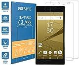 [2 Pièces] PREMYO verre trempé Sony Xperia Z5 Premium. Film protection Xperia Z5 Premium avec un degré de dureté de 9H et des angles arrondis 2,5D. Protection écran Z5 Premium