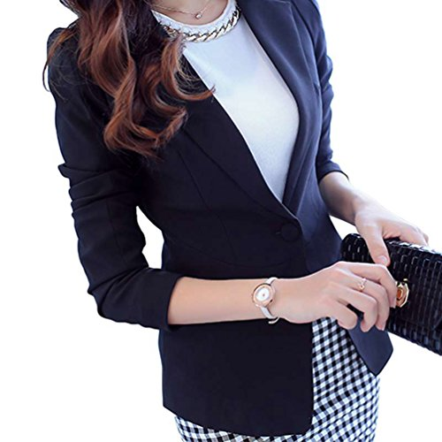 Yilianda donna ufficio tailleur elegante corto blazer tailleur giacca nero m