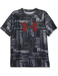 Boys Under Armour Big-Camiseta de deporte para niño Stealth Gray FR: XS (talla fabricante: YXS)