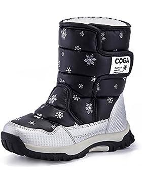 [Patrocinado]SAGUARO® Niños Botas de nieve Impermeable Bota de Invierno zapatos calientes