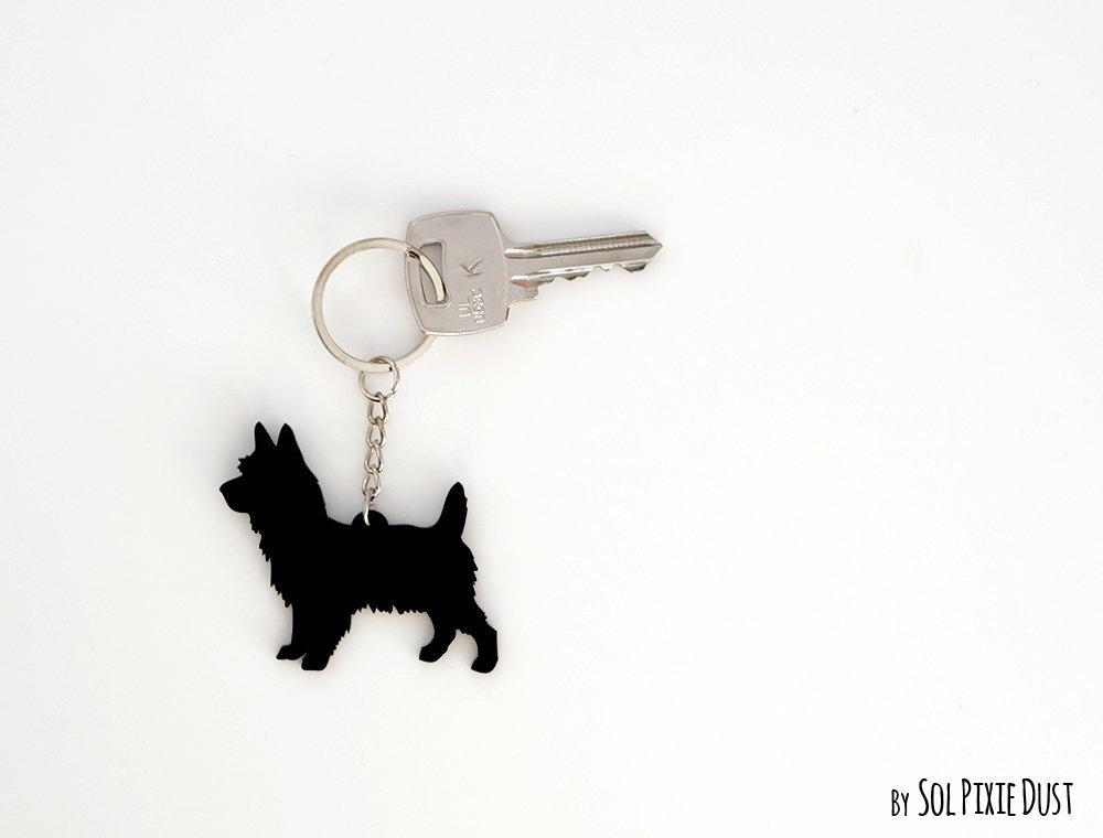 Australian Terrier Keychain Silhouette