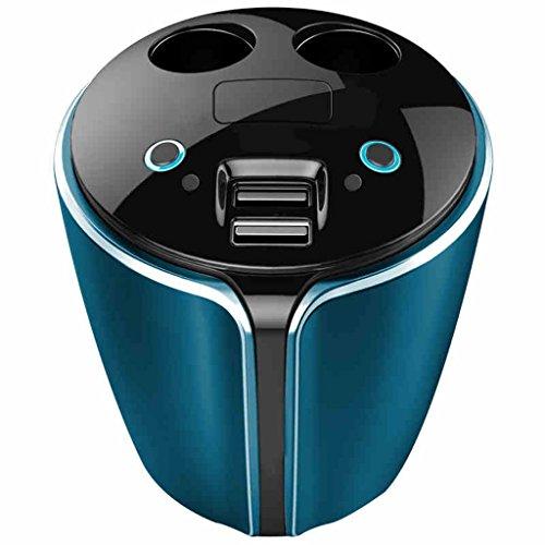 Car Charger 2-Socket Cigarette Lighter Divisor de salida de DC con 3.1A doble puertos de carga USB para Android Smartphone y más by SHOME
