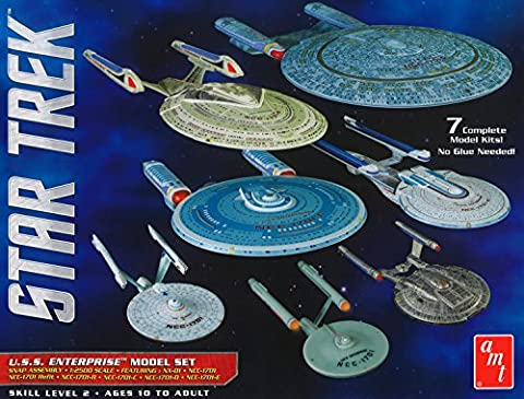 STAR TREK Special BOX 7 Models ENTERPRISE Mounting Building Kit 1:2500 Scale AMT 954
