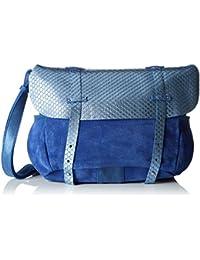 Mila Louise Bernie Ec/ - Bolso bandolera de Piel  Mujer Azul Azul (Topaze)