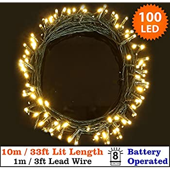 100 leds 10m outdoor battery fairy string lights warm white for fairy lights 100 warm white christmas tree lights indoor outdoor led string lights 10m33ft lit length battery operated 8 functions ideal for aloadofball Image collections