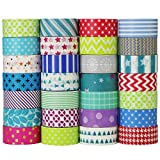 UOOOM 10 rotolo Tape decorative Washi Tape Nastri Adesivi Decorativi (pattern-1)
