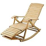 6 Grades Einstellbare Recliners Bambus Schaukelstuhl Alter Mann Siesta Stuhl Lazy Stuhl Klappstuhl Bürostuhl Sessel Gartenliege Sonnenliege Liegestuhl
