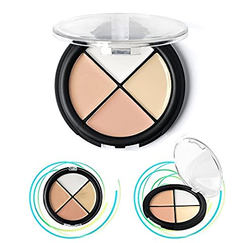 Cosmetics Concealer Palette, KRABICE 4 Color Makeup Dark Circle Concealer Cream Yellow Circles Make Up Concealers Cream (1.4oz/40g) #2