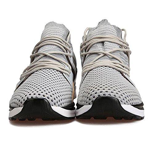 corsa leggera a da scarpe allusura leggere antiurto da resistenti gray uomo antiusura Sneakers punta p8xawtq1