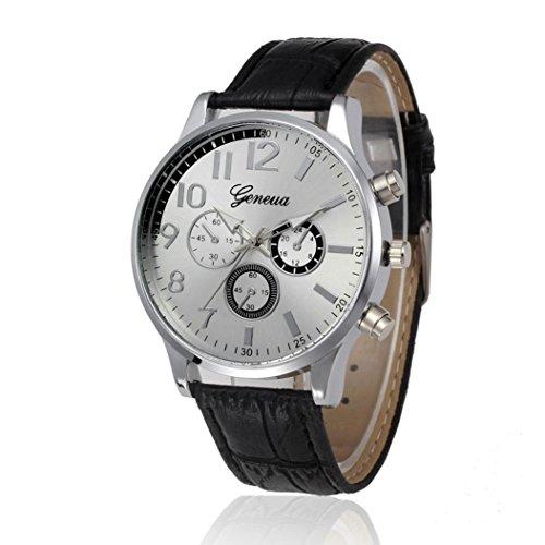 Foto de NUEVO reloj con correa de cuero, reloj de pulsera de cuarzo, relojes para hombre diseño 2018de lujo clásico simple e informal. Liquidación de relojes cómodos, de acero inoxidable , baratos, con correa de piel - Reloj de pulsera impermeable informal de cu