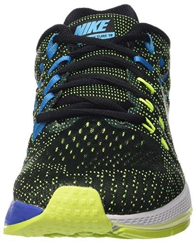 Nike Air Zoom Structure 19 (W), Chaussures de Running Entrainement Homme Multicolore - Negro / Plata / Lima / Azul (Black/Pure Platinum-Vlt-Bl Lgn)